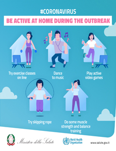 #CORONAVIRUS - Be active at home during the outbreak
